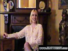 Thumb: Blonde crossdresser Al...