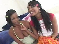 Two ebony schoolgirls ... video