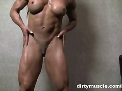 Muscular Brunette Plays Wi... - 05:37