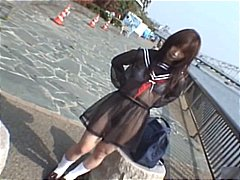 outdoor, jav, model, flasher, uniform