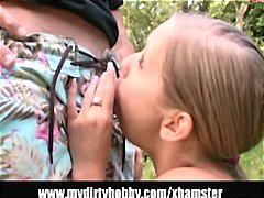 Naughty blonde gets ga... preview