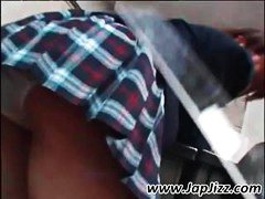 DrTuber Movie:Japanese schoolgirl peed her p...