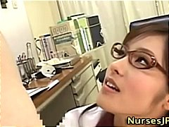 Dirty japanese nurse i...