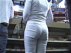 pants, white, ass, slow motion, voyeur
