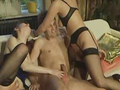 oral, cucumber, orgy, blowjob, stockings