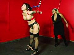 Asian babe tied up and... video