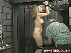 Blonde MILF is tied up... video