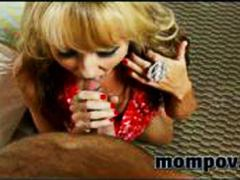 Blonde milf fucking and sucking in first adult video