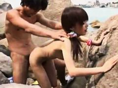 skinny, blowjob, slut, small tits, outdoor, doggystyle, sucking, fucked, japanese, hairy