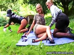 threesome, fetish, blonde, lesbian,