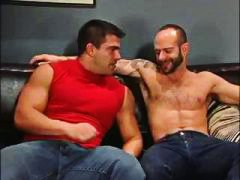See: 2 muscle men share sto...