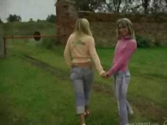 DrTuber Movie:Two blond freshies get dirty n...