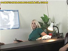 Thumb: Blonde mom teaches son...