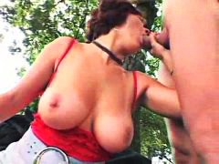 sex, big tits, hardcore, outdoors