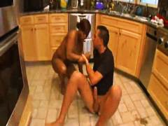 interracial, dude, kitchen, big cock