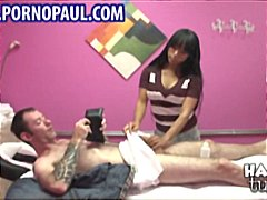 Busty Asian masseuse g... video