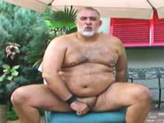 jerking, jerking off, dildos, mark, fat, outside, dildo play, mature, daddy, toys, older, bearish