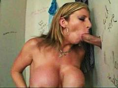 sara jay,  facial, blow-job, bathroom,
