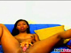 HardSexTube - Hot ebony babe masturb...