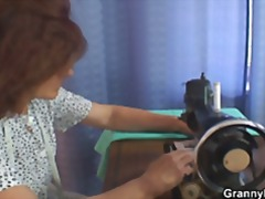 He bangs sewing granny video