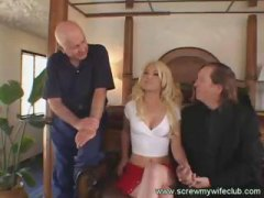Blonde wife gets fucke...