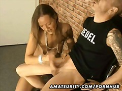 PornHub Movie:Amateur handjob footjob and bl...