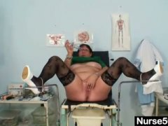 Thumbmail - Mature bbw wife is fin...