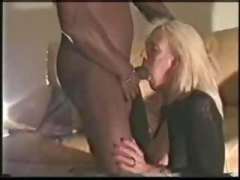 blonde, interracial, gets, amateur, mature, on, sucks, cock, black cock, black