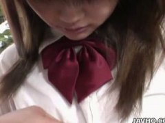 Dirty japanese schoolgirl gets fucked in uniform