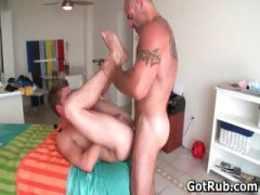 guy, stud, muscled, anal, rubbing, gets, oiled, gay, sexy, oiled up