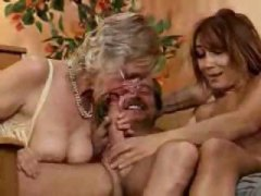 Ebony maid is brought in to this group sex scene for messy facial