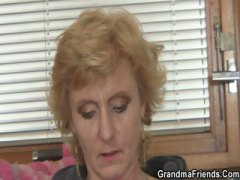threesome, granny, older, mom, mature