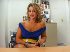 ashley coda,  gets, blonde, office