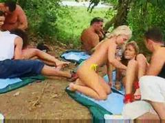 Alpha Porno Movie:Russian student party outdoors...