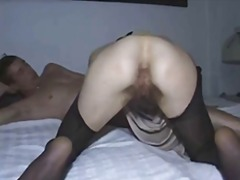 Hairy pussy in nylons ...