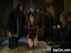 Tied up Asian slave gets h... - 05:10