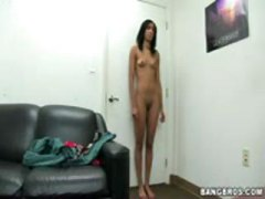 ebony, amateur, audition, facial
