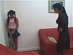 Latina mom Spanks and ... video