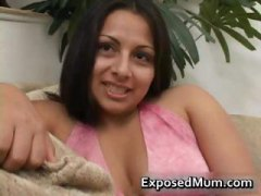 Latina mom tit fucks a...