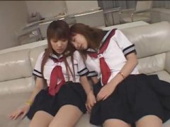 See: Two Japanese girls kis...