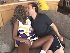 Sexy young ebony cheer... video