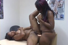 ebony, strapon, lesbian, black and ebony,