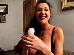 See: Busty brunette mom pla...