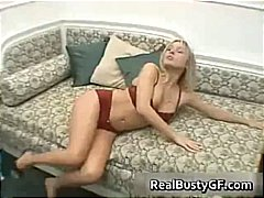 Horny sensual blonde g... video