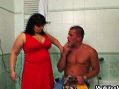 mature, reality, man, blowjob, wife, cheating, mom,