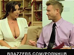Brunette with big tits... video