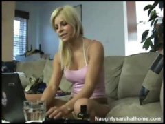 Sexy hot blonde goes a...