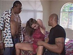 interracial, fucked, brunette, group sex