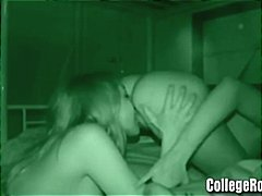 Two amateur lesbians eating pussy and then a hot teen foursome