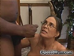 Hot Milf in glasses de... video